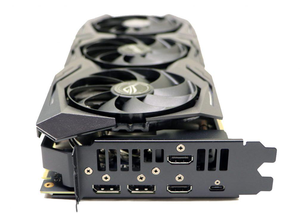 Video-izlazi (konektori) na modernoj grafičkoj kartici (ASUS ROT Strix RTX 2080)