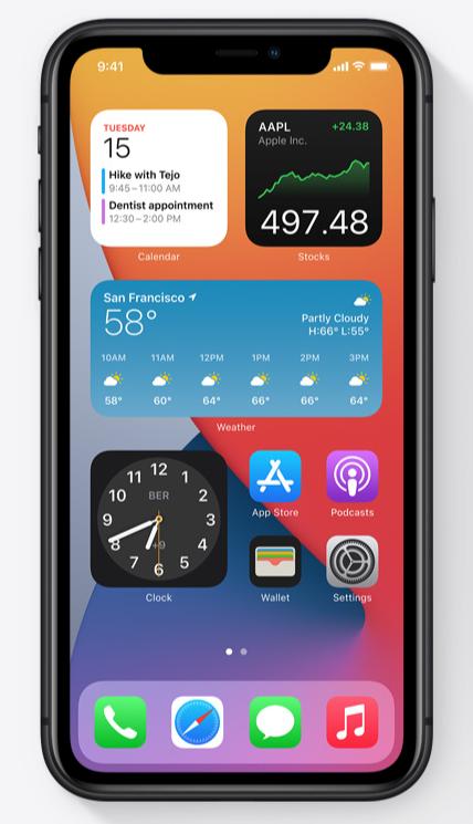iOS 14 - vidžeti na početnom ekranu