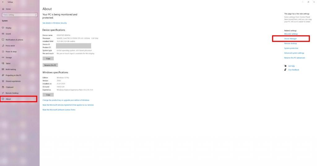 Pristupite Device Manager-u iz Windows Settings prozora