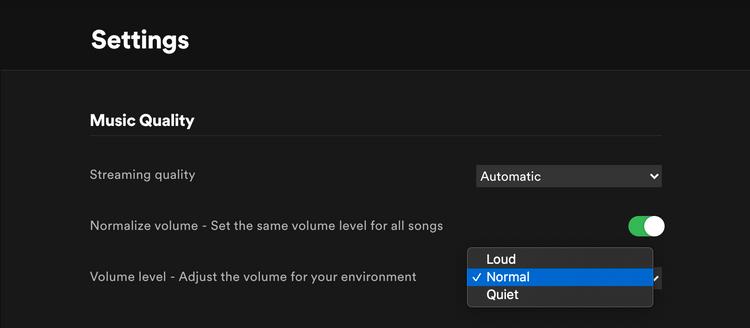 Normalizacija jačine zvuka - Spotify