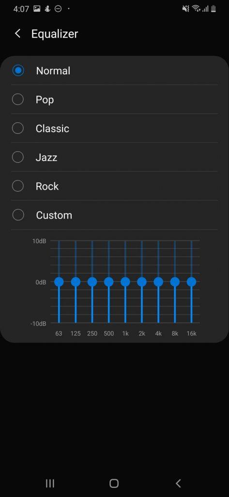 Spotify - Android - Ekvilajzer - podešavanje
