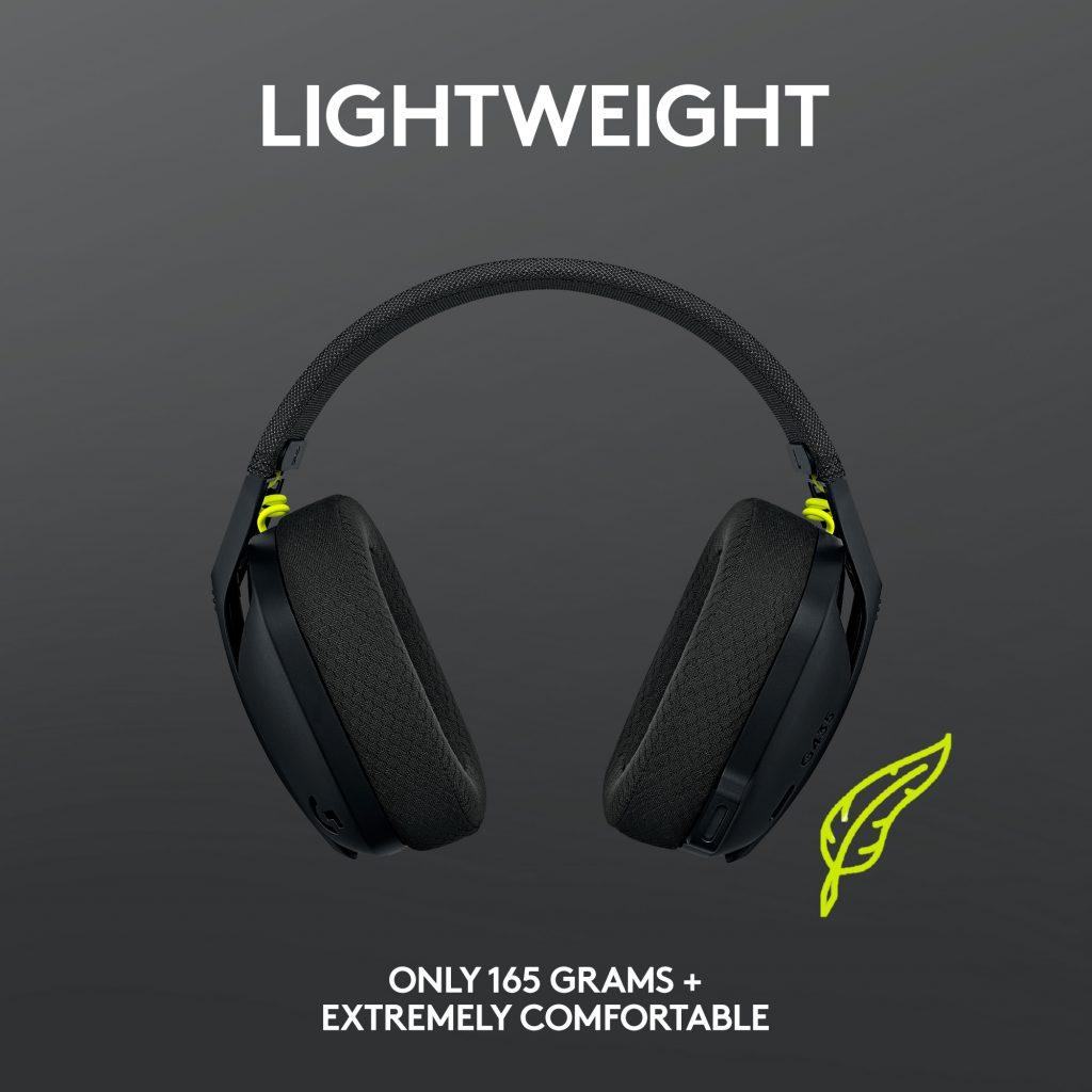 Logitech G435 LIGHTSPEED - lagane i udobne gaming slušalice